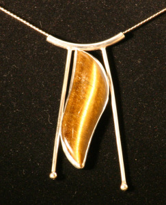 Pendant 4 Sterling silver, South African Tigereye